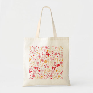 Funny Colourful Christmassy Pattern Tote Bag