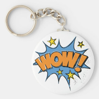 Funny Comic Cartoon Explosion with Nice WoW Text Key Ring