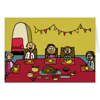 Funny Comical Happy Thanksgiving Greeting Card
