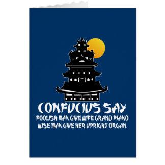 Funny Confucius Card