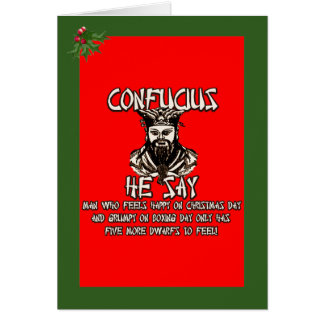 Funny Confucius Christmas Card