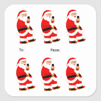 Funny contemporary Christmas ideas Square Sticker