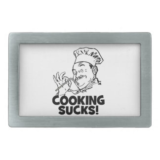 Funny Cooking Sucks Gifts Rectangular Belt Buckle