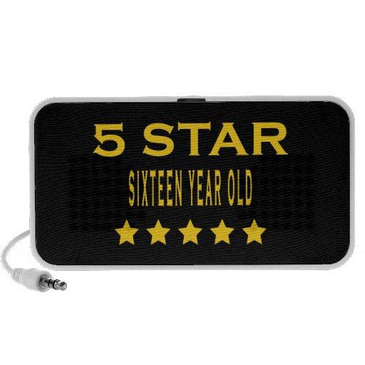 Funny Cool 16th Birthdays : Five Star Sixteen Mini Speaker