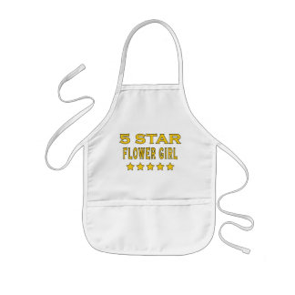 Funny Cool Gifts : Five Star Flower Girl Kids Apron