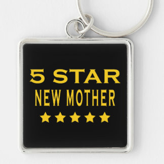 Funny Cool Gifts : Five Star New Mother Keychain