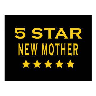 Funny Cool Gifts : Five Star New Mother Postcard