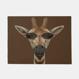 Funny Cool Giraffe Doormat