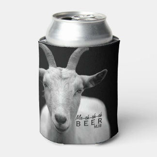 """Funny Cool Goat Sound """"My Beer"""" monogram Can Cooler"""