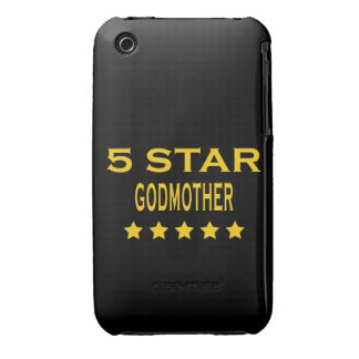 Funny Cool Godmothers Five Star Godmother iPhone 3 Case-Mate Case