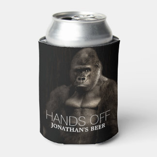 """Funny Cool Gorilla """"Hands off"""" your name Beer"""