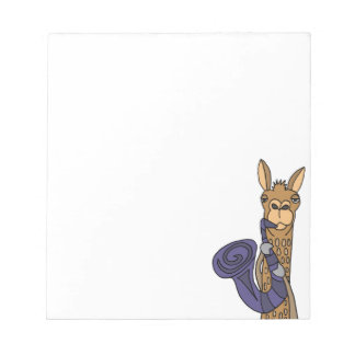Funny Cool Llama Playing Saxophone Original Art Notepad
