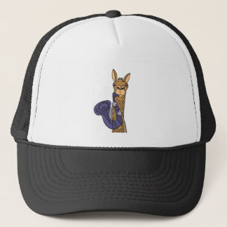 Funny Cool Llama Playing Saxophone Original Art Trucker Hat