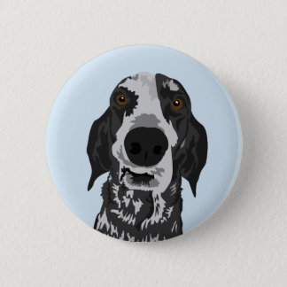 Funny Coonhound face button