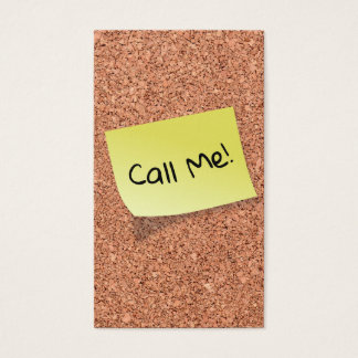 FUNNY Cork Board with Customizable Text on Post It Business Card
