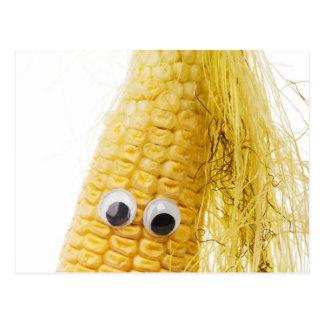 Funny Corn with Eye Postcard