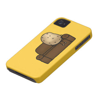Funny couch potato Case-Mate iPhone 4 cases