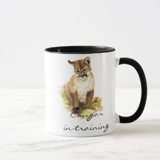Funny Cougar in-training with Cub, Kitten Mug