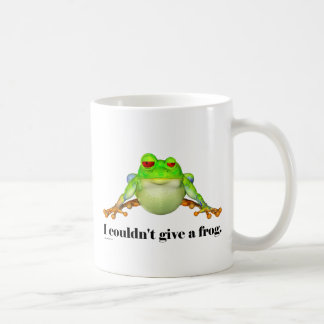 Funny Couldn't Give a Frog Cartoon Coffee Mugs