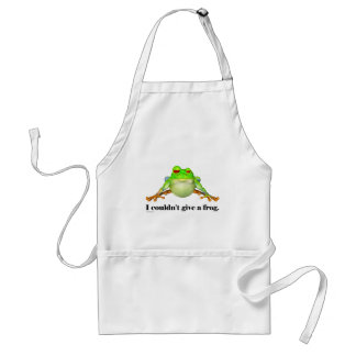 Funny Couldn't Give a Frog Cartoon Standard Apron