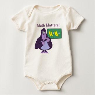Funny Counting Gorilla Math Custom Baby Bodysuit