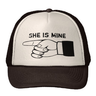 Funny couple hat, x2 ,HE/SHE is mine,edit text Cap