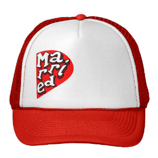 Funny couple matching hat, set x2 Just-Married Cap