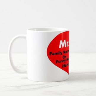 funny couple mug,set x2,mr and mrs basic white mug