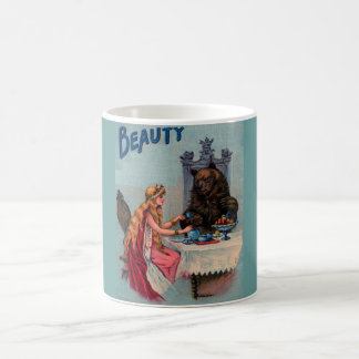 funny couple set x2,beauty & beast basic white mug