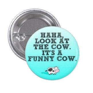 Funny Cow 3 Cm Round Badge