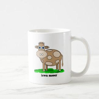 funny cow basic white mug
