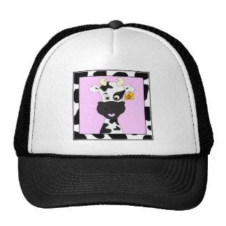 Funny cow cartoon cap