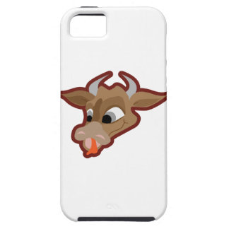 Funny cow cartoon character iPhone 5 cases
