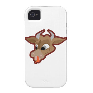 Funny cow cartoon character vibe iPhone 4 cover