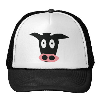 funny cow mesh hat