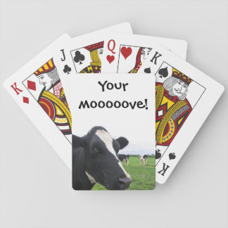 Funny Cow Moo Humorous Farm Barn Animal Cattle Playing Cards