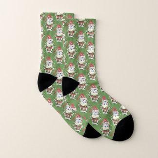 Funny cow pattern Christmas socks 1