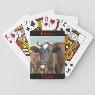 Funny Cow Sticking Out Tongue Poker Face Humorous Deck Of Cards