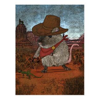 Funny Cowboy Birthday Postcard