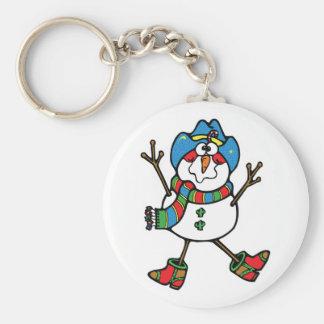 funny cowboy snowman keychains
