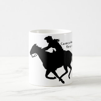 Funny Cowgirl Barrel Racer Coffee Mug