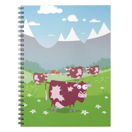Funny Cows Note Book