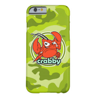 Funny Crab; bright green camo, camouflage Barely There iPhone 6 Case