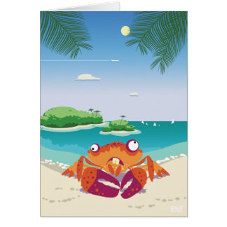 Funny Crab Card