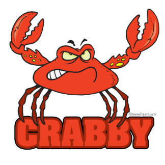 funny crabby red crab with an attitude photo sculpture key ring