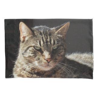 Funny Crabby Tabby Cat Pillowcase