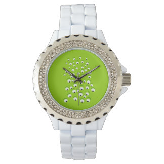 Funny Crazy and Curious Green Eyed Monster Watch