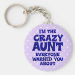 Funny Crazy Aunt Keychains