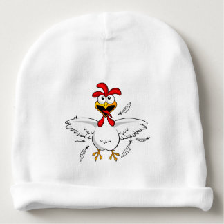 Funny Crazy Cartoon Chicken Wing Fling Baby Beanie