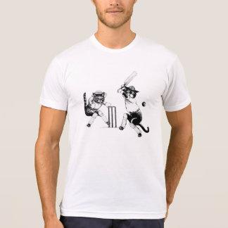 Funny Cricketing Cats Tshirt